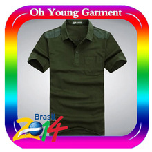 wholesale price summer high quality fashion garment men's polo t shirt