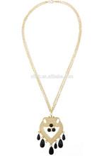 dongguan moda resina nera collana in oro catena