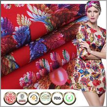 Hot sale Women dress Printing silk chiffon fabric