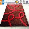 Factory price 3d shaggy polyester red carpet