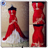 JJ3553 Hot selling Glod Lace red wedding dresses for sale