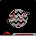 Nuevo 2014& deportes béisbol de diamantes de imitación de transferencia de los diseños para la decoración de la ropa