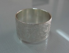 Carving Pattern Silver Plated Aluminium Napkin Ring for Hotel Restrauant Wedding party