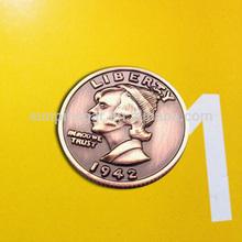 Cheap custom metal coin with die struck
