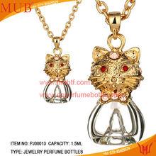 Brand MUB jewelry bottle pendant 18 k gold glass bottles gifts