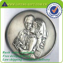 Free Design 3D Antique Silver Wedding Coins