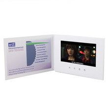 New gift item lcd display brochures,lcd video brochure card,handmade A5 customized artwork mp4 lcd brochure