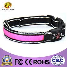 Pink light collar pet led with name