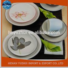 ceramic dinnerware set, spanish style dinnerware set, decal dinnerware set