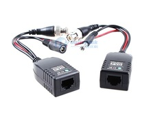 1CH passive Video Balun balun rj45 video power for Camera Power-Video-Data Signal are Routed via UTP & RJ45