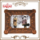 10x8 inches boy and girl fancy antique imitation wood design home decorative photo frame for family photos A0394E
