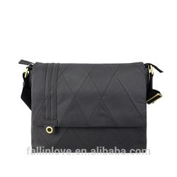 Genuine leather man fashion shoulder bag, classic business OL design man bag