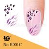 water transfer nail art stickers leopard nail sticker design