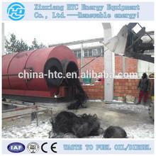 Energy-saving big handing capacity waste tyre plastic to diesel plant for heavy industries