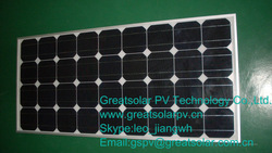 High efficency 100 watts mono crystalline solar panel with low price but good quality