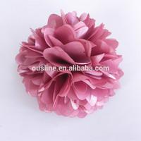 "4"" vintage rose pink puff petals silk flowers corsage"