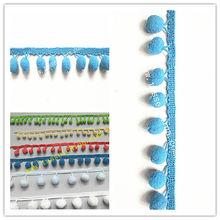 Wholesale Colorful Pompoms Fringe For Curtains