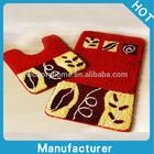 2PC Moisture-proof Mat Sets/washable rug sets/modern bath rug set