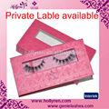 La etiqueta privada de pestañas personalizadas de embalaje, 100% piel de visón real paquete de las pestañas