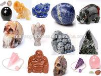 bulk wholesale crystal carved stone elephant, skull, pendulum, angel crafts & gift