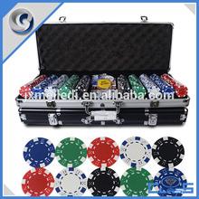 MLD-PC108 Excellent Quality 500 Durable Entertainment Poker Chips Set With Aluminum Case