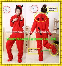 Custom-make Unique modern most comfort footed onesie adult red devil onesie for sale