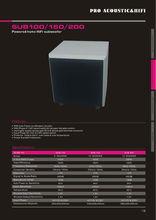 high quality dj speaker subwooferSUB100/150/200 HI-fi active subwoofer