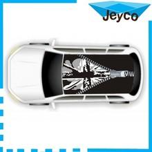 JEYCO VINYL 1.35*1.9m Air bubble free car roof wrap printed vinyl bomb sticker fashion design