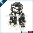 Fashionable elegant white magnolia white silk scarf for painting