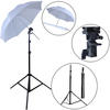 NEW PHOTOGRAPHIC EQUIPMENT Photo Studio Light Stand White Soft Umbrella Flash B-Mount set -Wholesale/ Retail [AKT014]