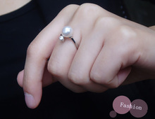 latest fashion 925 sterling silver jewelry pearl ring