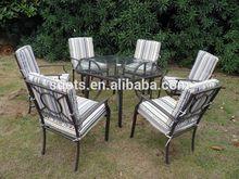 hexangular table outdoor rattan furniture set outdoor din