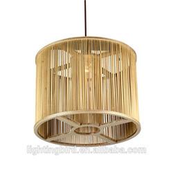 factory handmade wood pendant light /pendant lamp/ modern crystal nest pendant lighting