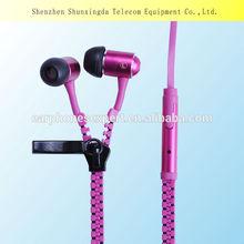 For Iphone 5 New Design Wire Zipper Earphone