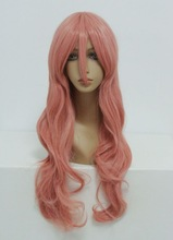 Wholesale High Quality Synthetic 80CM Vocaloid-Luka Pink Cosplay Costume wig