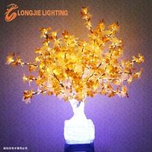 1200 led H: 1.3m led flashing tree with maple leaves
