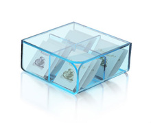 Colored square cheap acrylic tea box for sale