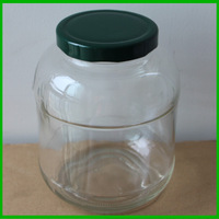 1500ml large glass jar glass pickle jars for cucumber wholesale