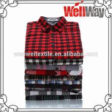 fashion flannel hawaiian new design casual check shirt for men