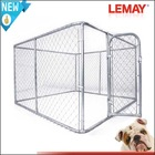Galvanized chain link extra large dog cage in home and garden