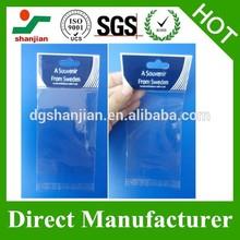 Colorful Printed Self Adhesive Seal OPP Plastic Bag With Header