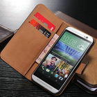 Mobile phone cases for htc one m8, flip leather case for htc m8,smooth leather wallet cover for htc m8 with stand function