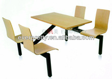 Modern dinner/ dining table and chair;wood restaurant tables display in KFC