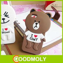 Customized OEM bear shape silicone mobile phone case