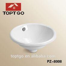 Ceramic Round Bowl Ivory Color Wash Basin Corner Wash Basin Sizes PZ-8008