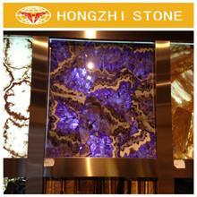 HONGZHI Natural Wholesale Cheap Price Purple Semi Precious Stone