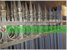 Hot sale wrought iron japanese fencing/wrought iron fence post/steel panel fences