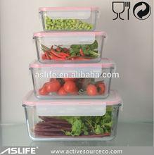 (ASS1161)Canton Autumn Fair 2014 Glass Food Storage Box In Huge Size 3300ml!Keep Fresh Huge Glass Food Storage Box 3300ml