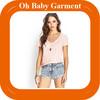 Ladies hot sale tshirt V- Neck tshirt cotton dri fit tshirt