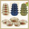 5pcs good price kitchenware set different size enamelware